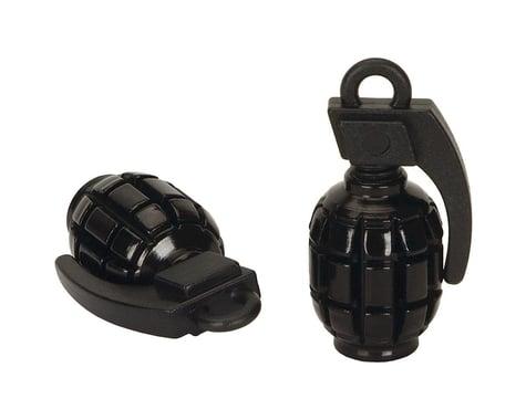 Black Ops Hand Grenade Valve Caps (Schrader) (Black)