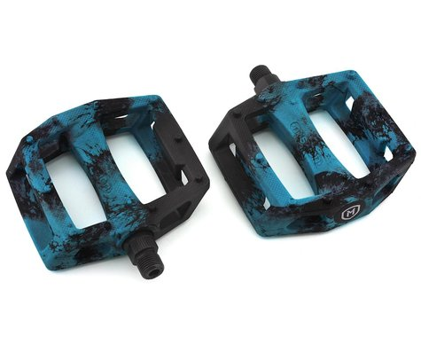 "Mission Impulse PC Pedals (Black/Blue Splash) (9/16"")"