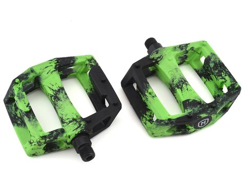 "Mission Impulse PC Pedals (Black/Green Splash) (9/16"")"