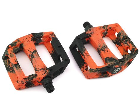 "Mission Impulse PC Pedals (Black/Orange Splash) (9/16"")"