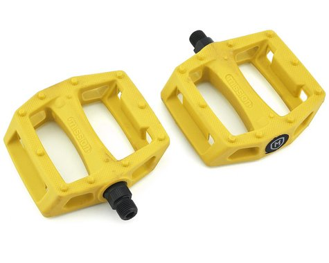 "Mission Impulse PC Pedals (Yellow) (9/16"")"