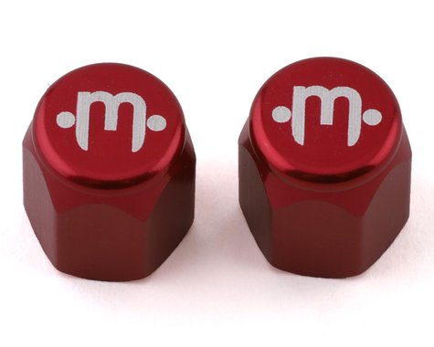 Mission Alloy Valve Caps (Schrader) (Red)