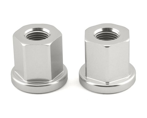 "Mission Alloy Axle Nuts (Silver) (3/8"")"