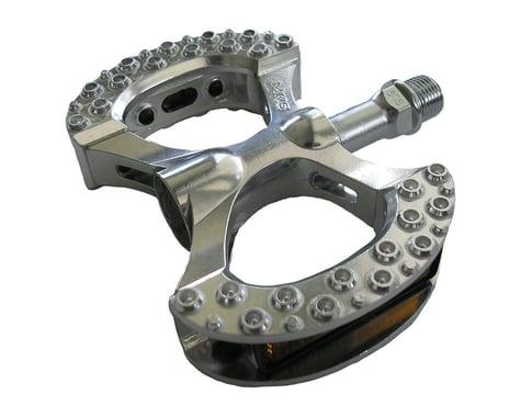"""Mks Lambda Platform Pedals: 9/16"""" Alloy Silver"""