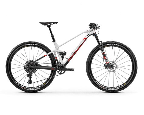 Mondraker F-PODIUM DC CARBON R XC Race Bike (White/Carbon/Flame Red) (M)