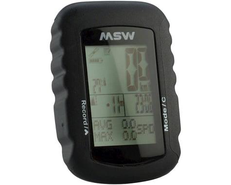 MSW Miniac 322 GPS Bike Computer - GPS, Wireless, Black