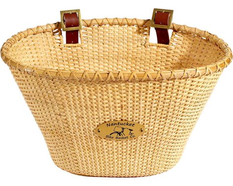 Nantucket Bike Basket Nantucket Lightship Front Basket (Oval Shape) (Natural)