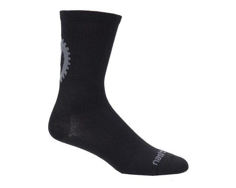 "Nashbar 5"" Logo Wool Socks (Black)"