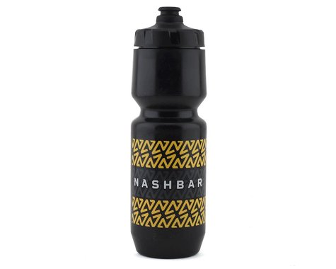 Nashbar Water Bottle with MoFlo Lid (26oz) (Stripe)