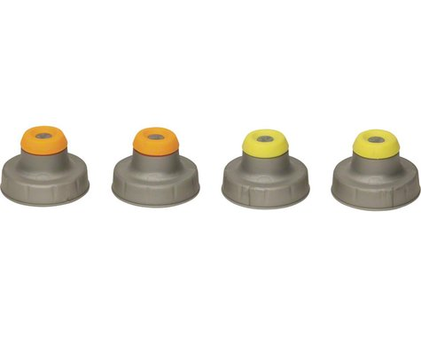 Nathan Push-Pull Flask Replacement Caps (Assorted Colors) (4)