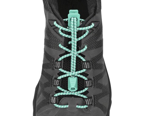 Nathan Run Laces Reflective: One Size Fits All, Cockatoo