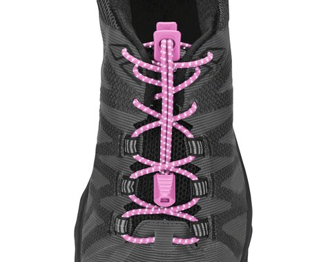 Nathan Run Laces Reflective: One Size Fits All, Pink