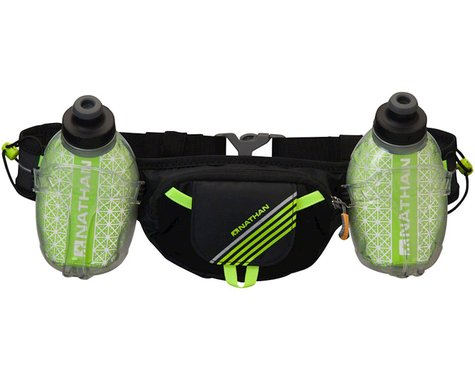 Nathan Trail Mix Plus Insulated Hydration Belt W/ Two 10oz Bottles