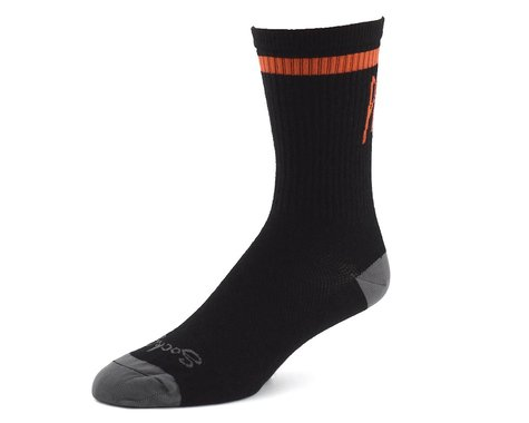 "Niner SockGuy Wool ""Pedal Damn It"" Socks (Black/Orange) (S/M)"