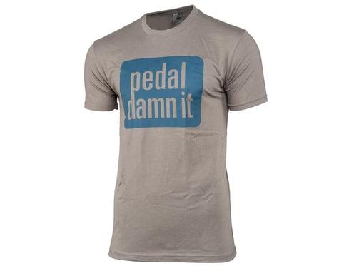 """Niner """"Pedal Damn It"""" T-Shirt (Light Grey) (2XL)"""