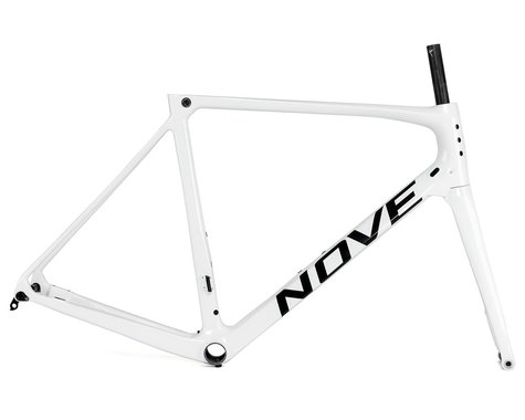 Nove Race Disc Frameset (Gloss White/Black Logo) (M)
