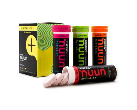 Nuun Sport Hydration Tablets (Mixed Flavors + Caffine) (4 Tubes)