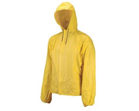 O2 Rainwear Hooded Rain Jacket w/ Drop Tail (Yellow) (2XL)