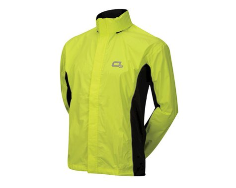 O2 Rainwear Primary Rain Jacket w/ Hood (Hi-Viz Yellow) (S)