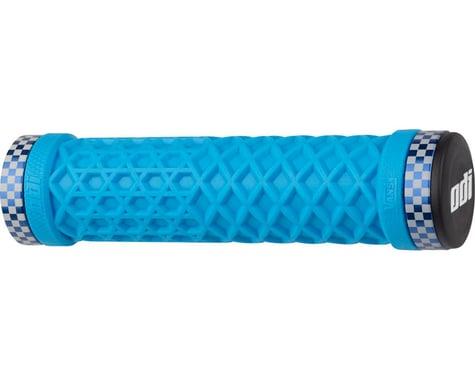 odi VANS Lock-On Grips Light (Blue w/ Blue Classic Checker Clamps) (130mm)