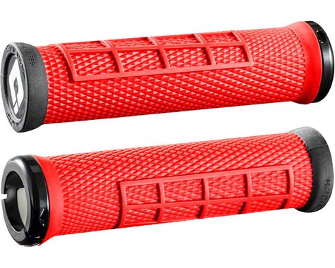 ODI Elite Flow Lock On Grips (Burnt Red w/ Black Clamps)