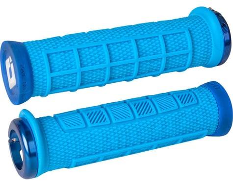 odi Elite Pro Lock-On Grips (Light Blue w/ Blue Clamps)