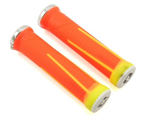 ODI AG-1 Aaron Gwin V2.1 Lock-On Grips (Flouro Orange/Yellow) (135mm)