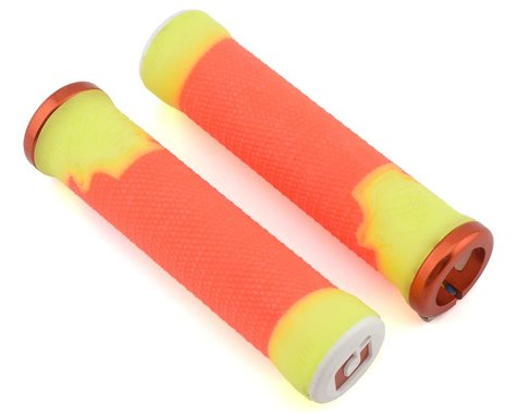 ODI AG2 135mm Lock-On Grips (Orange/Yellow)