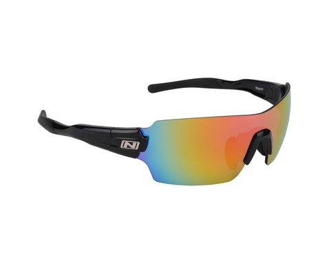 Optic Nerve Vapor Multi-Lens Sunglasses (Shiny Black) (Pink Zaio Lens)