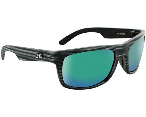 Optic Nerve ONE Timberline Sunglasses (Driftwood Grey) (Smoke Green Mirror Lens)