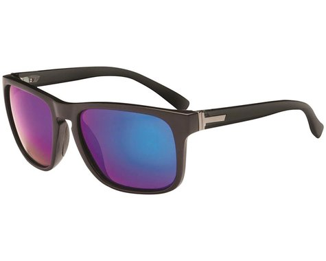 Optic Nerve ONE Ziggy Sunglasses (Matte Black) (Smoke Green Mirror Lens)