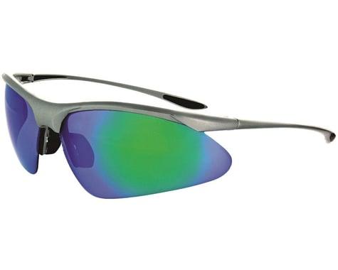 Optic Nerve Tightrope Sunglasses (Matte Carbon) (Brown Blue Mirror Lens)