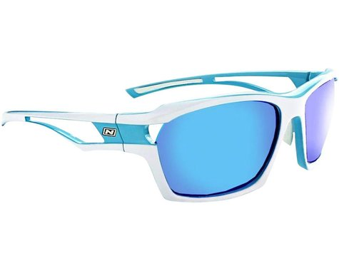 Optic Nerve Cassette Sunglasses (Powder Blue/White) (Smoke Ice Blue Mirror)