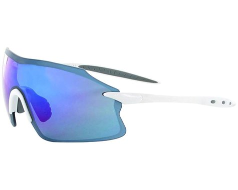 Optic Nerve Fixie Pro Sunglasses (Shiny White) (Smoke Blue Mirror Lens)