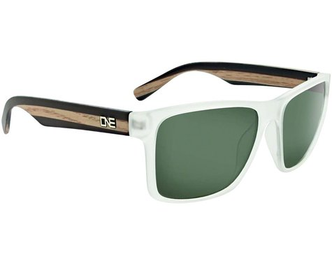 Optic Nerve Bankroll Sunglasses (Matte Crystal w/Wood) (Polarized Smoke Lens)
