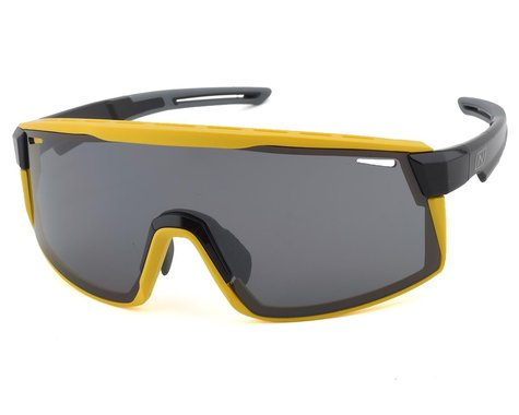 Optic Nerve Fixie Max Sunglasses (Black/Yellow) (Smoke/Silver Flash Lens)