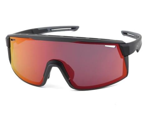 Optic Nerve Fixie Max (Matte Black/Aluminum) (Brown/Red Mirror Lens)
