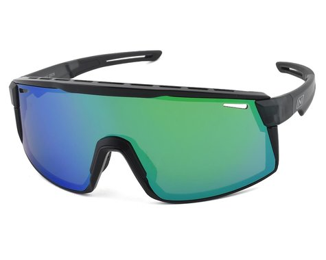 Optic Nerve Fixie Max (Matte Crystal Grey/Shiny Black) (Smoke/Green Mirror Lens)
