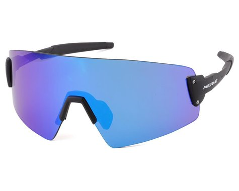 Optic Nerve Fixie Blast Sunglasses (Matte Black) (Blue Mirror Lens)