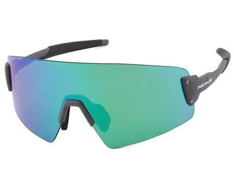Optic Nerve Fixie Blast Sunglasses (Shiny Grey) (Green Mirror Lens)