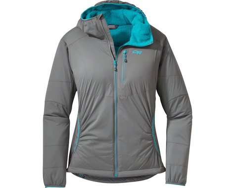 Outdoor Research Ascendant Women's Hoody (Pewter Gray/Typhoon Blue)