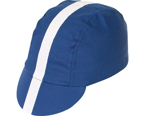 Pace Sportswear Classic Cycling Cap (Royal Blue w/ White Tape) (XL)