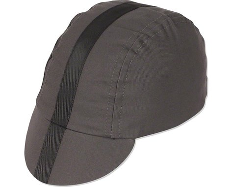 Pace Sportswear Classic Cycling Cap (Charcoal w/ Black Tape) (M/L)