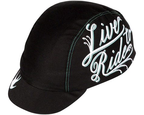 Pace Sportswear Live to Ride Cycling Cap (Black/White) (One Size Fits Most)