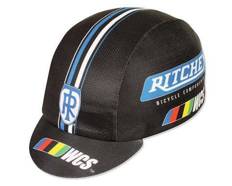 Pace Sportswear Coolmax Ritchey WCS Cycling Cap (Black/Blue)
