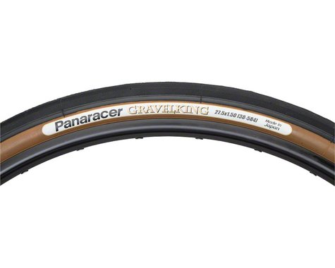 Panaracer Gravelking Tubeless Slick Tread Gravel Tire (Black/Brown) (650 x 38)