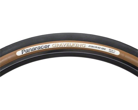 Panaracer Gravelking Tubeless Slick Tread Gravel Tire (Black/Brown) (650 x 42)