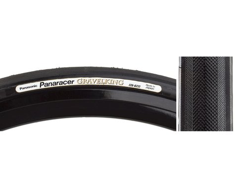 Panaracer Gravelking Tubeless Slick Tread Gravel Tire (Black/Black) (700 x 35)