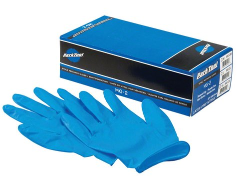 Park Tool MG-2 Nitrile Mechanic Gloves (Blue) (100/Box) (L)