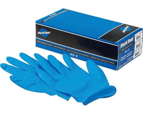Park Tool MG-2 Nitrile Mechanic Gloves (Blue) (100/Box) (S)